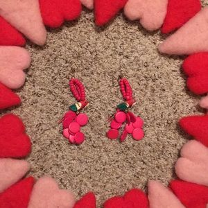 Jewelry - Hot Pink Vintage Parrot Earrings